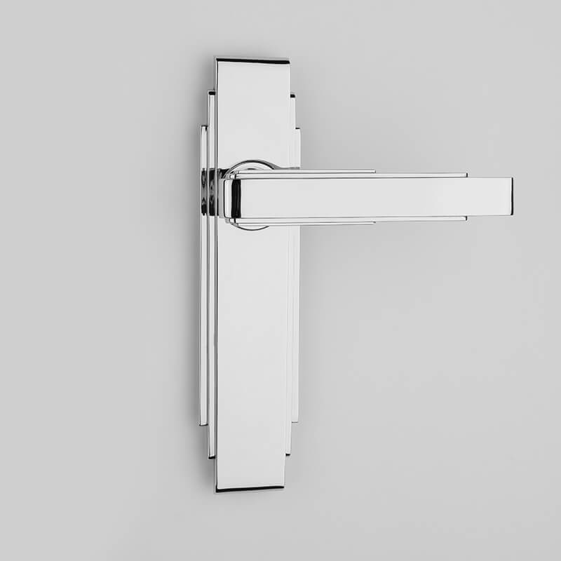 Round Edge Deco Lever Handle On Backplate
